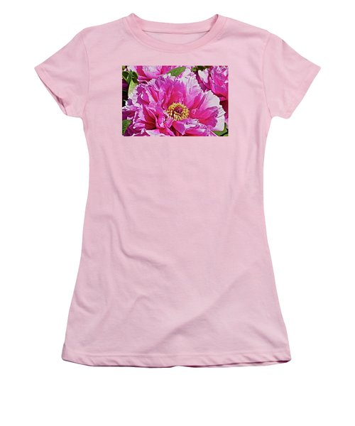 Pink Peony Women's T-Shirt (Junior Cut) by Joan Reese