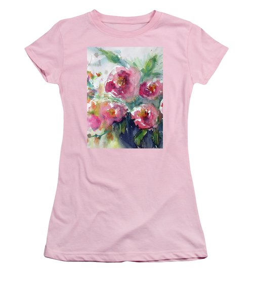Pink Pops Women's T-Shirt (Athletic Fit)