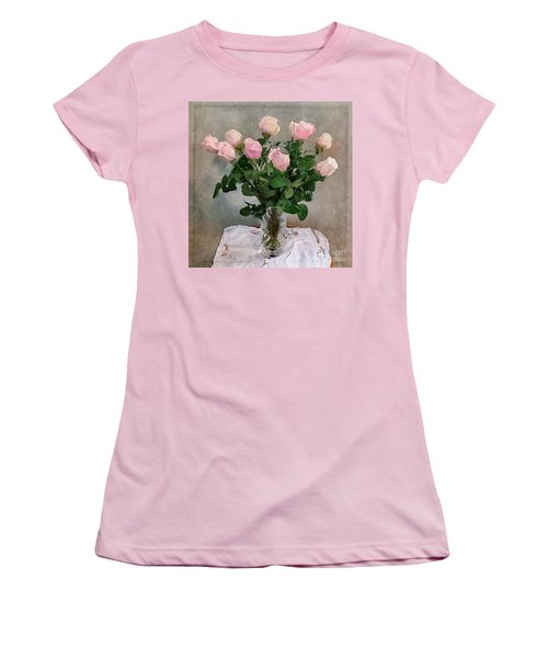 Pink Roses Women's T-Shirt (Junior Cut) by Alexis Rotella