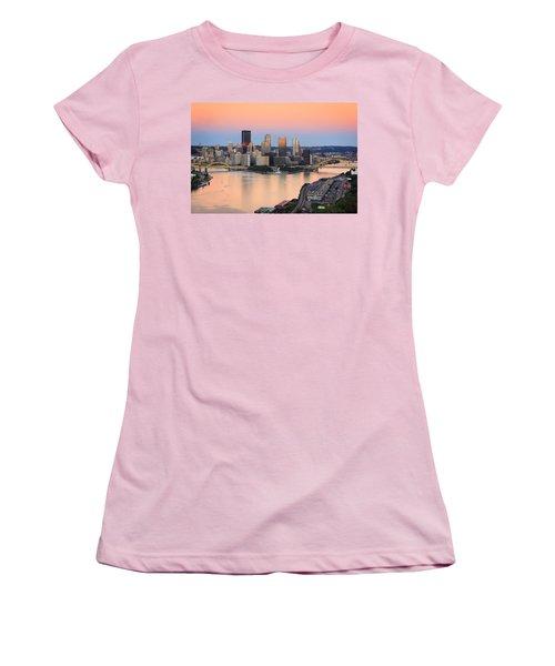 Pittsburgh 16 Women's T-Shirt (Junior Cut) by Emmanuel Panagiotakis