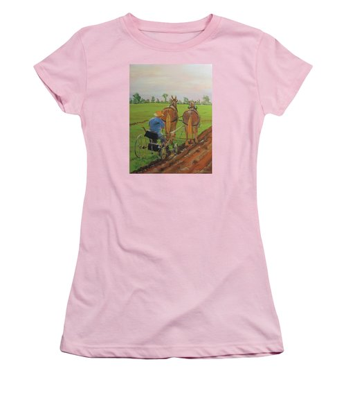 Plowing Match Women's T-Shirt (Athletic Fit)