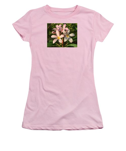 Plumeria Heaven Women's T-Shirt (Junior Cut) by LeeAnn Kendall