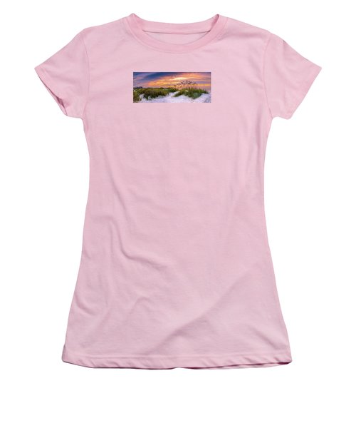Point Sunrise Women's T-Shirt (Junior Cut) by David Smith