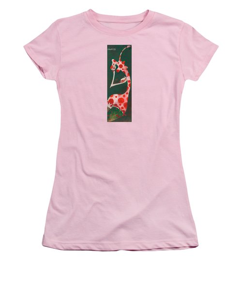 Women's T-Shirt (Junior Cut) featuring the painting Polka Dots by Maya Manolova