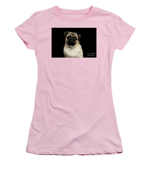 Portrait Of Pug Women's T-Shirt (Athletic Fit)