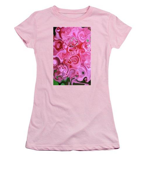 Pretty In Pink Women's T-Shirt (Junior Cut) by JoAnn Lense