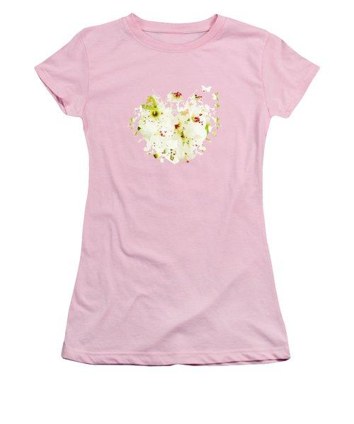 Pretty Pear Petals Women's T-Shirt (Junior Cut) by Anita Faye