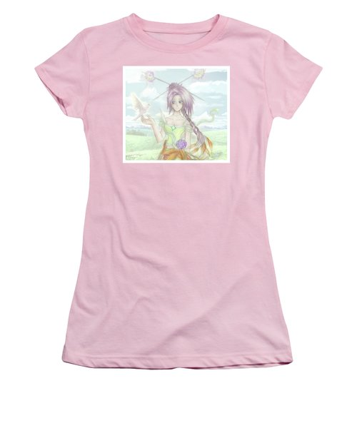 Women's T-Shirt (Athletic Fit) featuring the mixed media Princess Altiana Colour by Shawn Dall