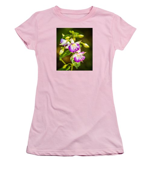 Women's T-Shirt (Junior Cut) featuring the photograph Purple Glow by Jerry Cahill