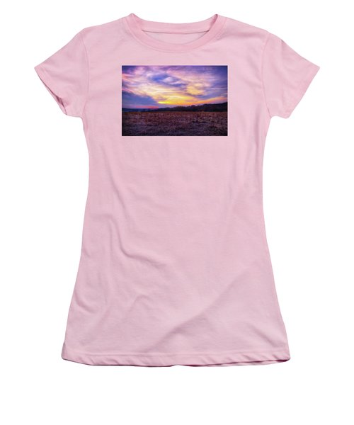 Purple Sunset At Retzer Nature Center Women's T-Shirt (Junior Cut) by Jennifer Rondinelli Reilly - Fine Art Photography