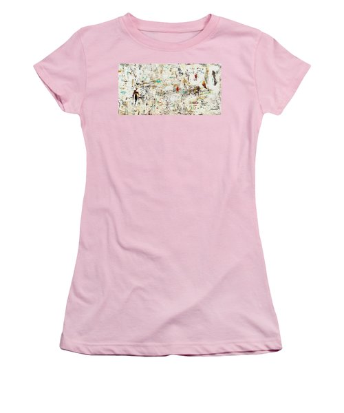 Women's T-Shirt (Junior Cut) featuring the painting Quest by Carmen Guedez