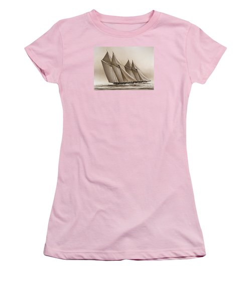 Racing Yachts Women's T-Shirt (Junior Cut) by James Williamson