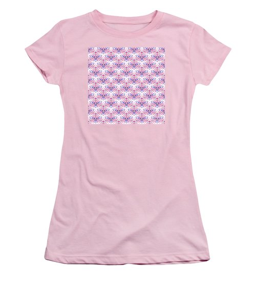 Red Fabric Pattern Women's T-Shirt (Athletic Fit)