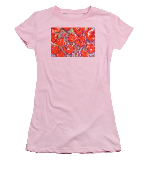 Red Poppies Women's T-Shirt (Junior Cut) by Gallery Messina