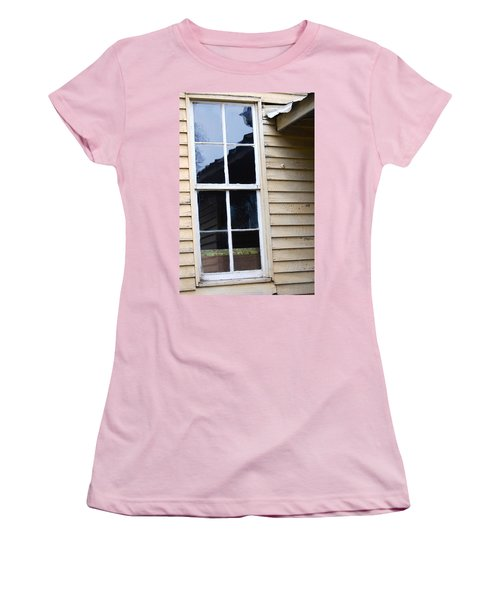 Women's T-Shirt (Junior Cut) featuring the photograph Reflections Of The Past by Debbie Karnes