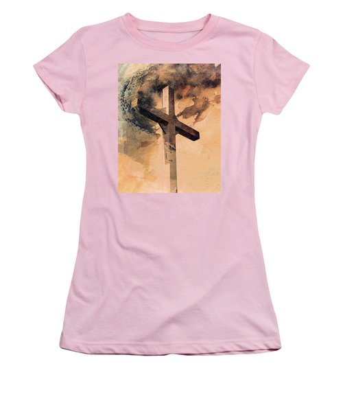 Women's T-Shirt (Athletic Fit) featuring the digital art Risen  by Aaron Berg