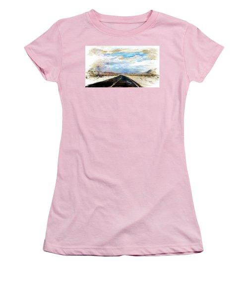 Road In The Desert Women's T-Shirt (Junior Cut) by Robert Smith