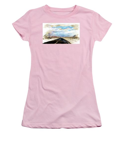 Road In The Desert Women's T-Shirt (Athletic Fit)