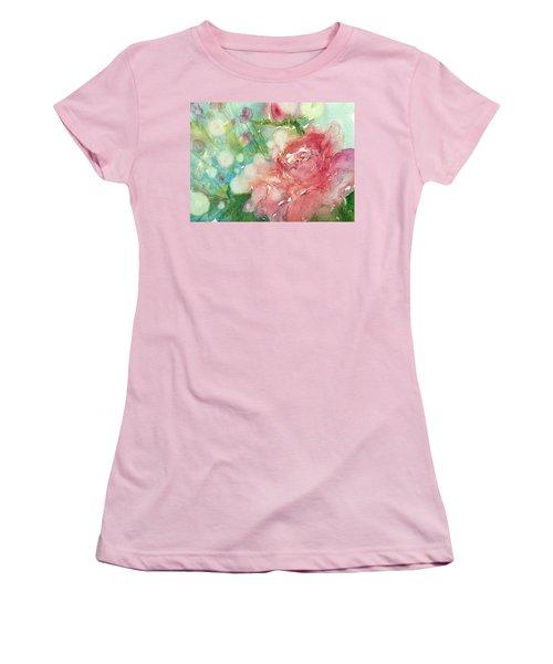 romantic Rose Women's T-Shirt (Athletic Fit)