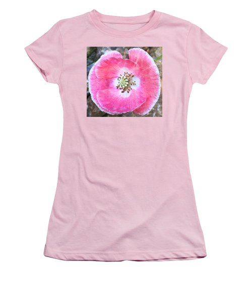 Rose Marble Women's T-Shirt (Athletic Fit)