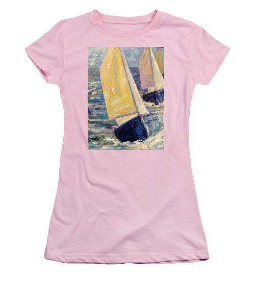 Rough Seas Women's T-Shirt (Athletic Fit)
