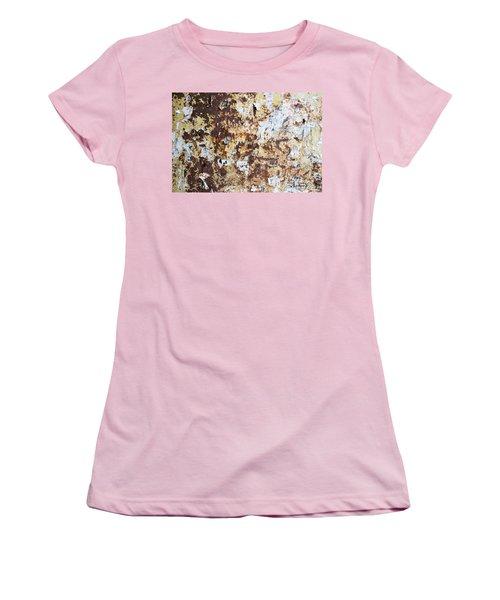 Women's T-Shirt (Junior Cut) featuring the photograph Rust Paper Texture by John Williams