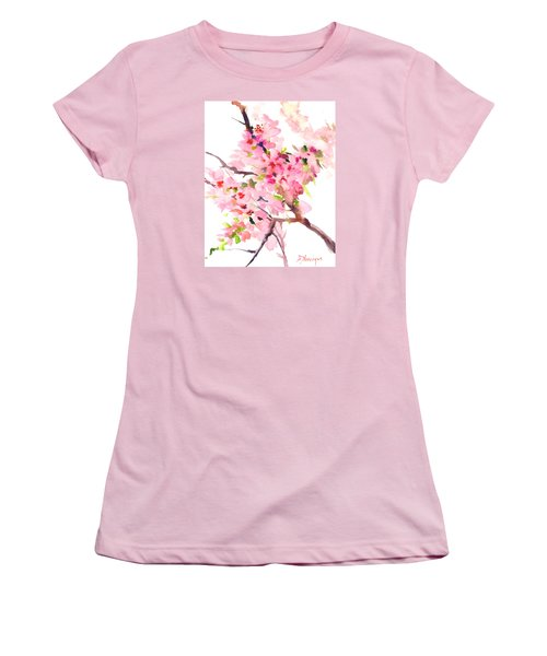 Sakura Cherry Blossom Women's T-Shirt (Athletic Fit)