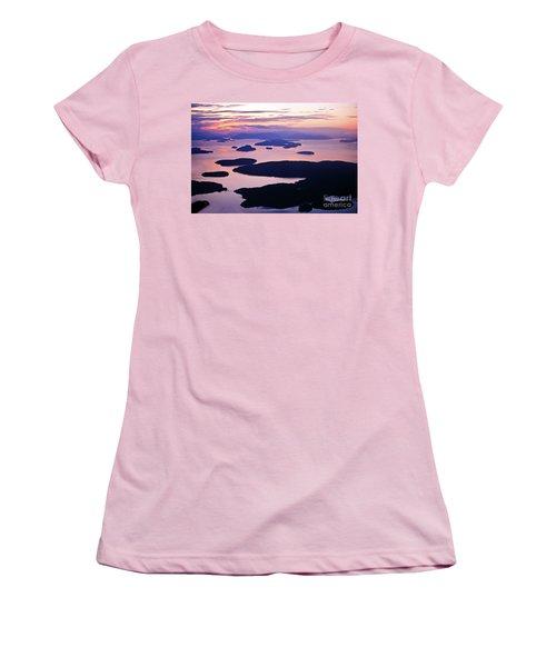 San Juans Tranquility Women's T-Shirt (Junior Cut) by Mike Reid