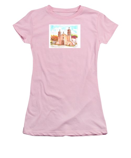 San Miguel Catholic Church, Socorro, New Mexico Women's T-Shirt (Athletic Fit)