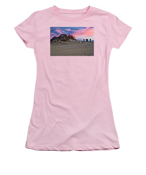 Sand Dunes Of Kitty Hawk Women's T-Shirt (Athletic Fit)