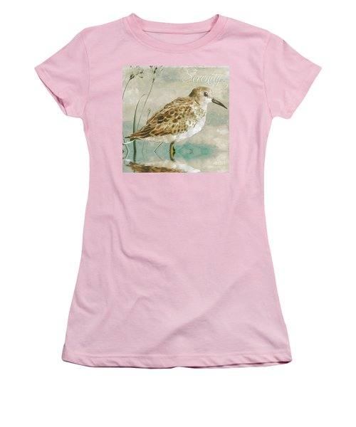 Sandpiper I Women's T-Shirt (Junior Cut) by Mindy Sommers