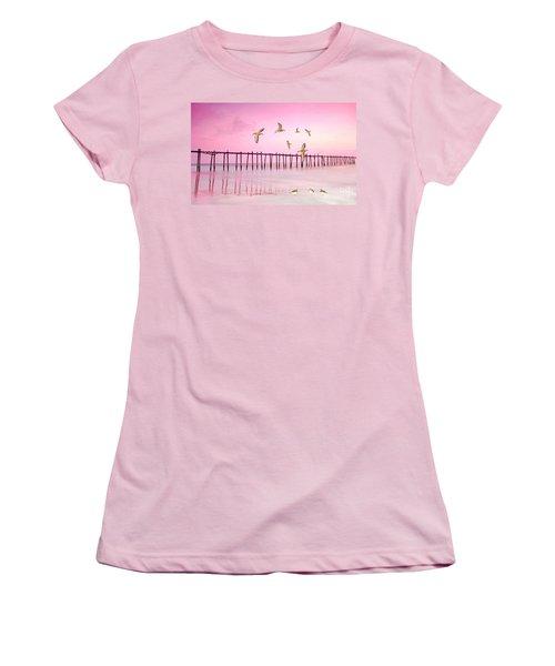 Sandpiper Sunset Women's T-Shirt (Athletic Fit)