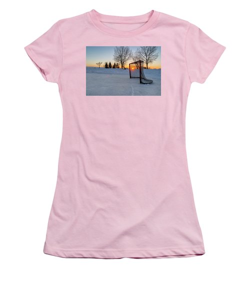 Women's T-Shirt (Junior Cut) featuring the photograph Scoring The Sunset 2 by Darcy Michaelchuk