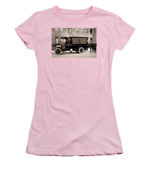 Scranton Pennsylvania  Bureau Of Police  Paddy Wagon  Early 1900s Women's T-Shirt (Athletic Fit)