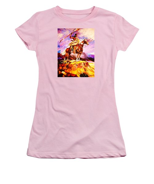 Signalling Sighting Of The Buffalo Herd Women's T-Shirt (Junior Cut) by Al Brown