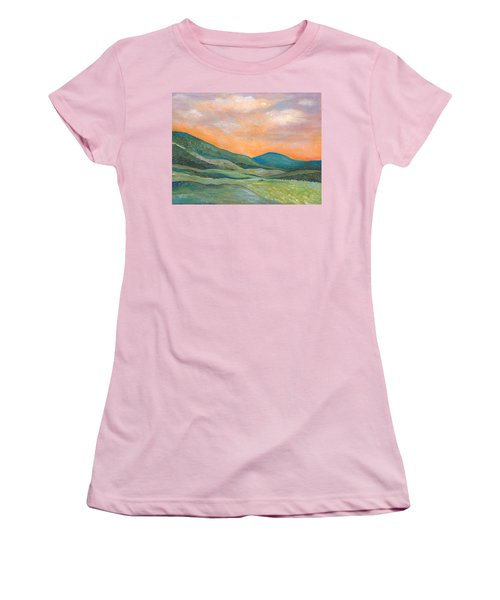 Women's T-Shirt (Junior Cut) featuring the painting Silent Reverie by Tanielle Childers