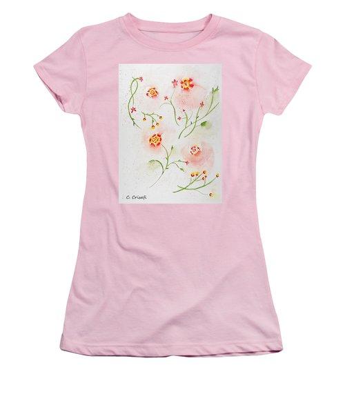Simple Flowers #2 Women's T-Shirt (Junior Cut) by Carol Crisafi