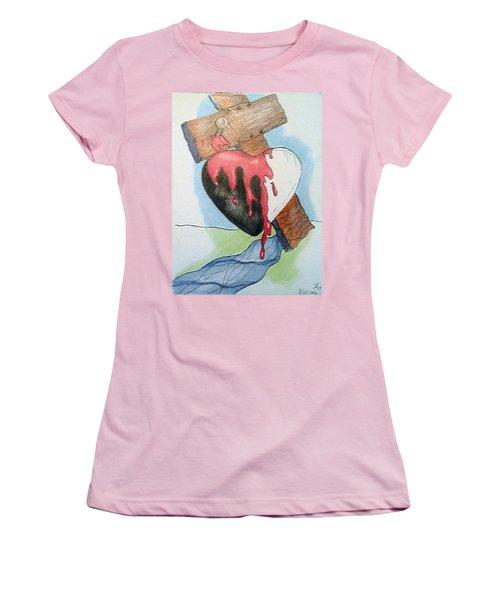 Sin Washer Women's T-Shirt (Junior Cut) by Loretta Nash