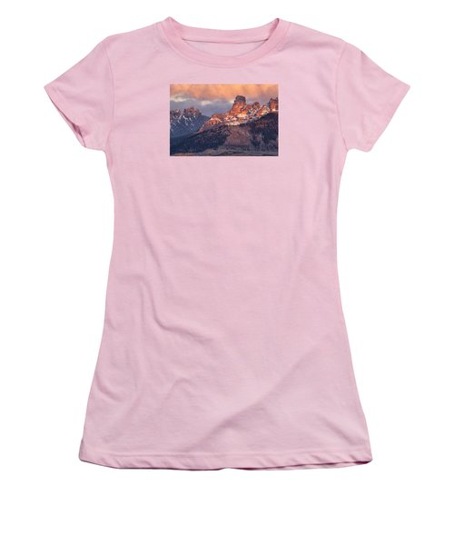 Snow On Chimney Rock Women's T-Shirt (Athletic Fit)