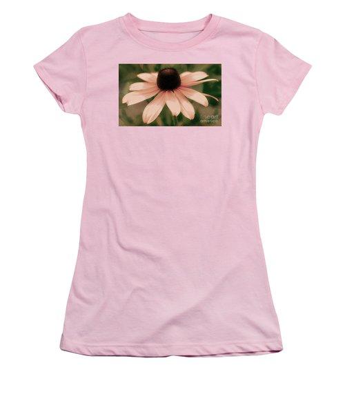 Soft Delicate Pink Daisy Women's T-Shirt (Junior Cut) by Judy Palkimas