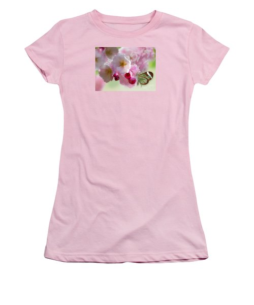 Spring Cherry Blossom Women's T-Shirt (Junior Cut) by Morag Bates