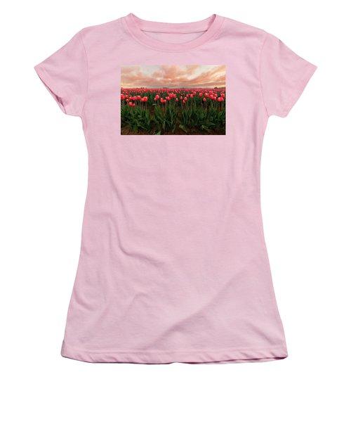 Spring Rainbow Women's T-Shirt (Athletic Fit)