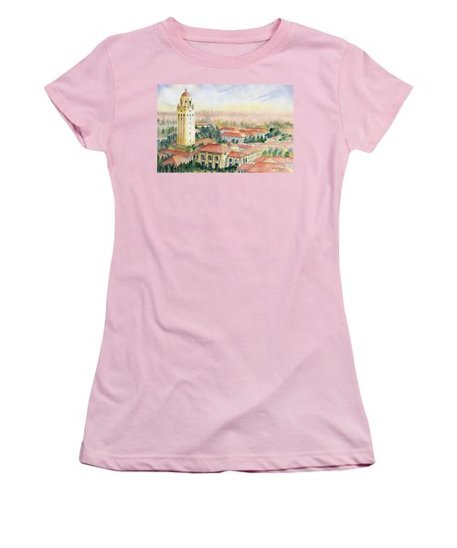 Stanford University California Women's T-Shirt (Junior Cut) by Melly Terpening