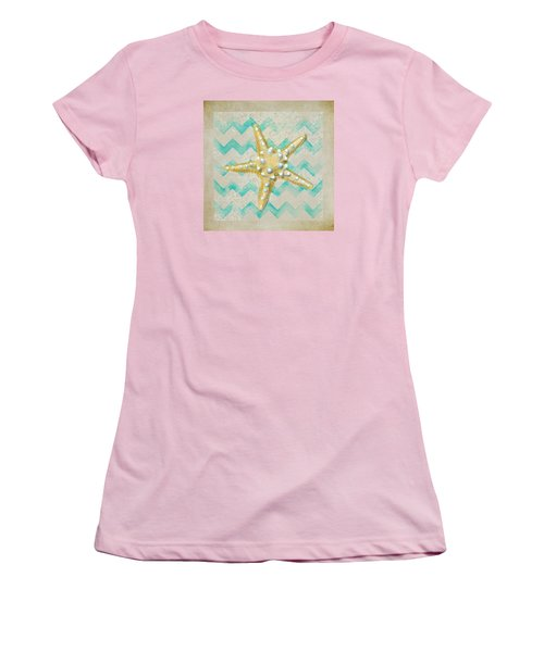 Starfish In Modern Waves Women's T-Shirt (Athletic Fit)
