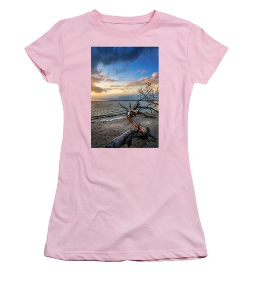 Women's T-Shirt (Junior Cut) featuring the photograph Stormy Sunset by Marvin Spates