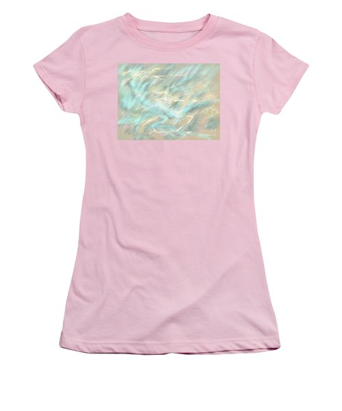 Women's T-Shirt (Athletic Fit) featuring the digital art Sunlight On Water by Amyla Silverflame