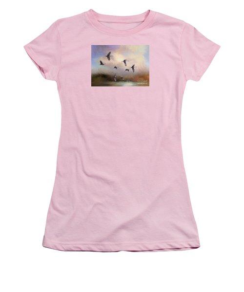 Sunrise Flight Women's T-Shirt (Junior Cut) by Janice Rae Pariza