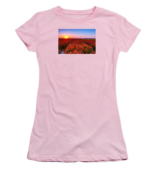 Sunset At Nuriot Field Women's T-Shirt (Athletic Fit)