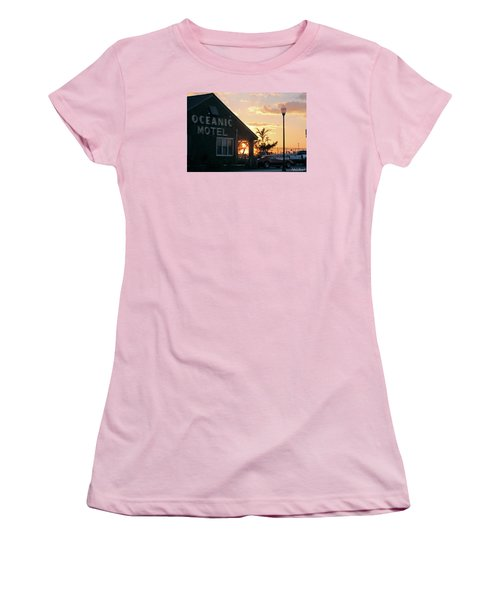 Sunset At Oceanic Motel Women's T-Shirt (Junior Cut)