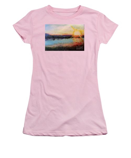 Sunset Women's T-Shirt (Junior Cut) by Marlene Book
